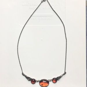 Jewelry - Amber necklace and earring set